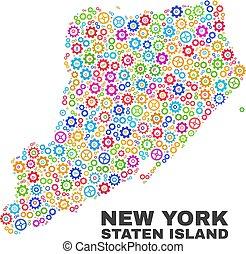 kaart, items, staten, cog, eiland, mozaïek