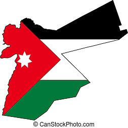 kaart, jordanië