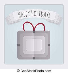 kaart, kado, feestdagen