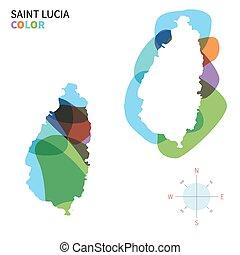 kaart, kleur, abstract, lucia, vector, heilige