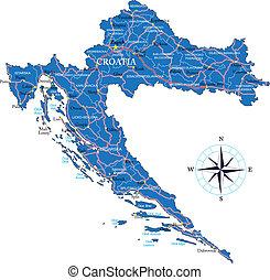 kaart, kroatië