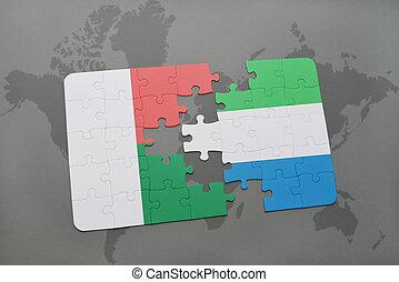 kaart, madagascar, raadsel, vlag, sierra, wereld, nationale, leone