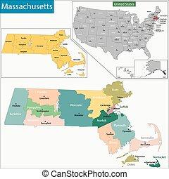 kaart, massachusetts