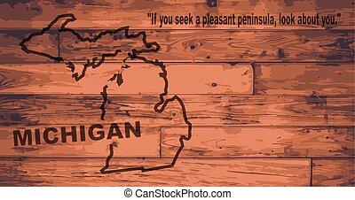 kaart, michigan, merk