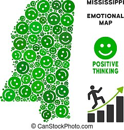 kaart, mississippi, smileys, staat, vector, samenstelling, geluk