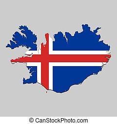 kaart, nationale vlag
