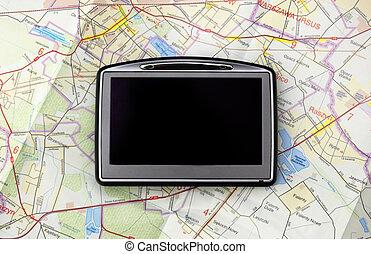 kaart, navigatiesysteem