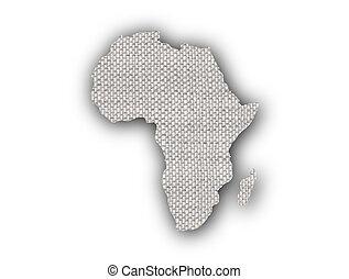 kaart, oud, afrika, linnen