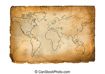 kaart, oud