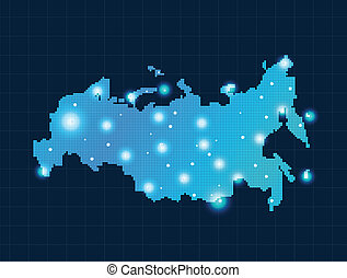 kaart, pixel, rusland