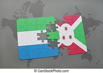 kaart, raadsel, sierra, vlag, burundi, wereld, nationale, leone