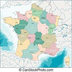 kaart, republiek, franse