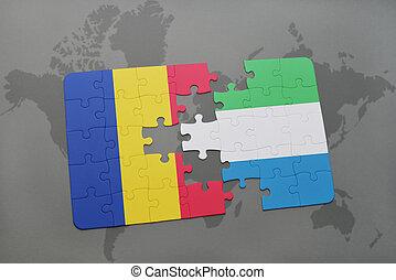 kaart, roemenië, raadsel, vlag, sierra, wereld, nationale, leone