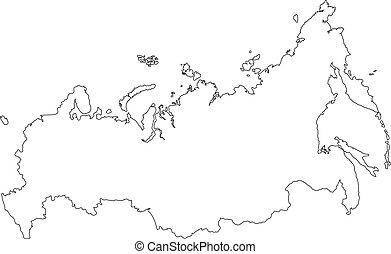 kaart, rusland