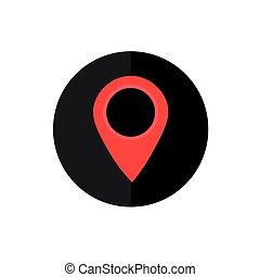 kaart,  smartphone,  frame, symbool,  web,  Vector, Plaats,  interface,  Internet, cirkel,  App, wijzer, knoop, pictogram