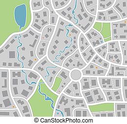 kaart, stad