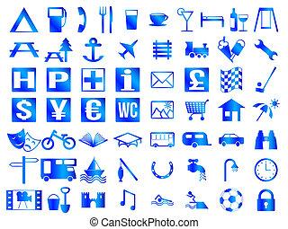 kaart, symbolen
