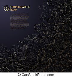 kaart, topografisch, ruimte, abstract, text., ontwerp, jouw