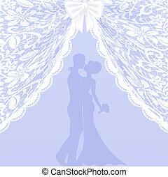 kaart, trouwfeest