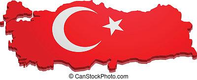 kaart, turkije