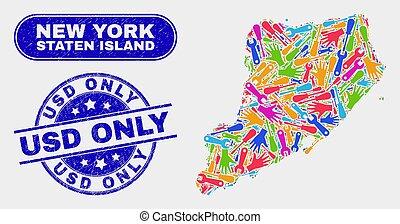 kaart, usd, nood, eiland, staten, zegels, alleen, bouwsector