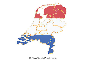 Kaart, (netherlands), friesland, -, verlichting,... stock ...