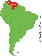 kaart, venezuela