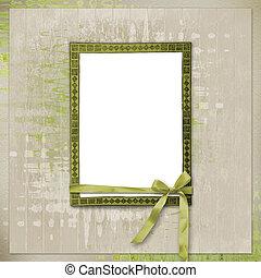 kaart, voor, uitnodiging, of, felicitatie, in, scrapbooking, stijl, ontwerp