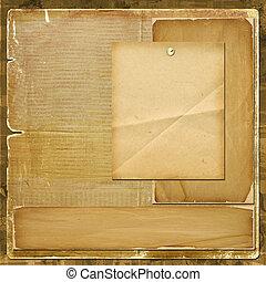 kaart, voor, uitnodiging, of, felicitatie, in, scrapbooking,...
