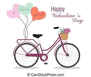 kaart, voor, valentine's dag