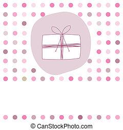 kaart, voor, verjaardag girl