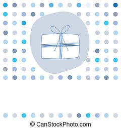 kaart, voor, verjaardag jongen