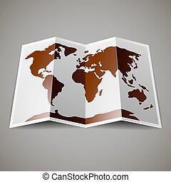 kaart, wereld