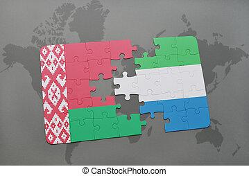kaart, wit-rusland, raadsel, vlag, sierra, wereld, nationale, leone