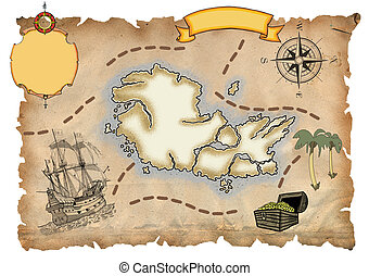 kaart, zeerover