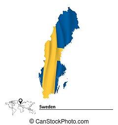 kaart, zwede dundoek