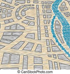 kaartachtergrond, stad