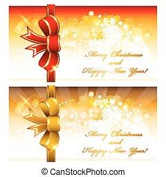 kaarten, kerstmis, groet