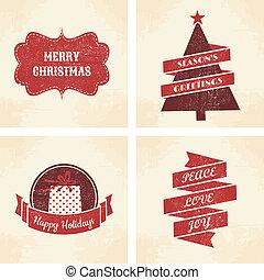 kaarten, kerstmis, verzameling