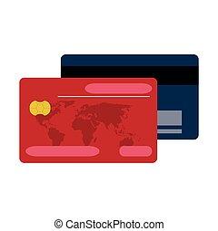 kaarten, krediet, betalingen