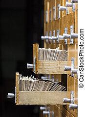 kaarten, lade, archief