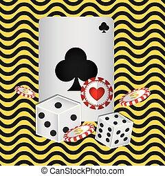 kaarten, pook, casino, iconen