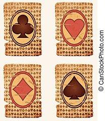 kaarten, pook, casino