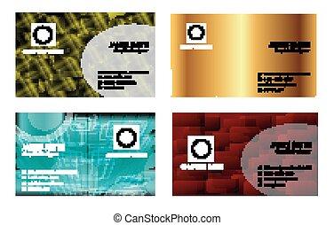 kaarten, set, zakelijk