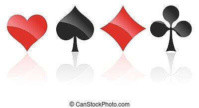 kaarten, symbolen, spelend