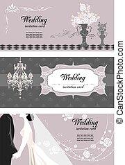 kaarten, tekst, trouwfeest, ruimte
