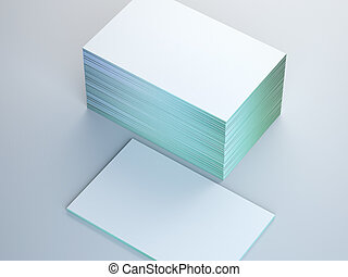 kaarten, witte , stapel, zakelijk, vloer