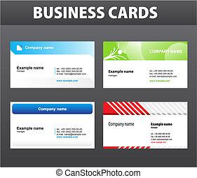 kaarten, zakelijk