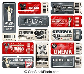 kaartjes, bioscoop, movie theater, retro, ouderwetse