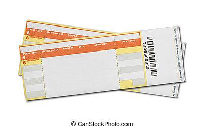 kaartjes, concert, leeg